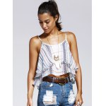 cheap Sweet Wave Printing Condole Belt Small Top For Woman