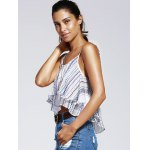 Sweet Wave Printing Condole Belt Small Top For Woman deal