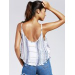 Sweet Wave Printing Condole Belt Small Top For Woman for sale