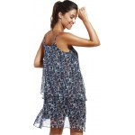 Fashioable Flower Printing Rippled Edge Spaghetti Strap Dress For Woman for sale