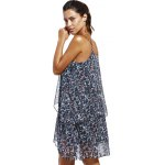 Fashioable Flower Printing Rippled Edge Spaghetti Strap Dress For Woman deal