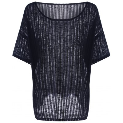 Hollow Out Batwing Sleeve T-Shirt For Women