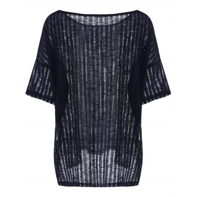Casual Hollow Out Batwing Sleeve T-Shirt For WomenTees<br>Casual Hollow Out Batwing Sleeve T-Shirt For Women<br><br>Material: Polyester<br>Clothing Length: Long<br>Sleeve Length: Half<br>Collar: Round Neck<br>Style: Casual<br>Season: Summer<br>Pattern Type: Solid<br>Weight: 0.300kg<br>Package Contents: 1 x Top