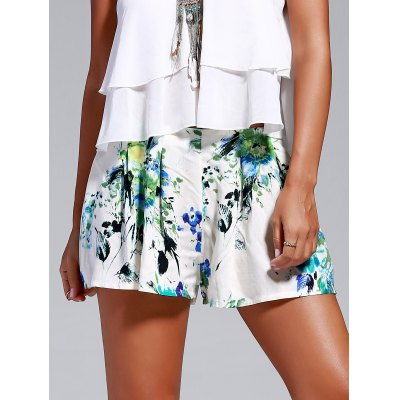 Floral Print Loosed-Fitting Shorts