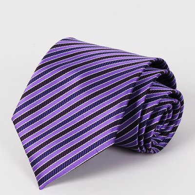 Purple Twill Jacquard Business Wear Tie For Men