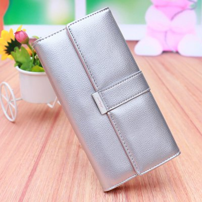 Sweet Candy Color and PU Leather Design Wallet For Women