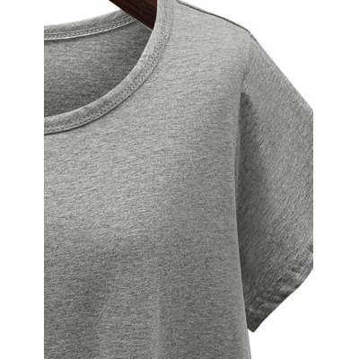 Lace Spliced Asymmetrical TeeTees<br>Lace Spliced Asymmetrical Tee<br><br>Material: Cotton Blends,Lace,Polyester<br>Clothing Length: Regular<br>Sleeve Length: Short<br>Collar: Round Neck<br>Style: Fashion<br>Season: Summer<br>Pattern Type: Patchwork<br>Weight: 0.350kg<br>Package Contents: 1 x Tee