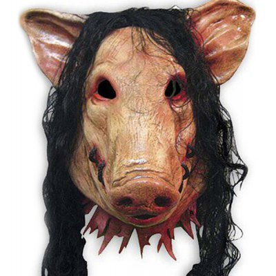 Novelty Halloween Hair Pig Mask Cosplay Prop For Fancy Ball Party Spirit Festival