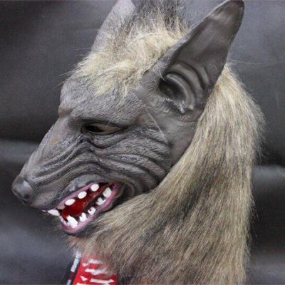Creepy Halloween Wolf Latex Mask Cosplay Prop For Fancy Ball Party Show