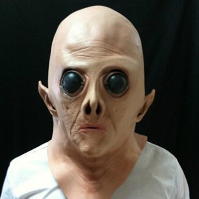 Hot Sale Halloween UFO Aliens Latex Mask Cosplay Prop For Fancy Ball Party Show