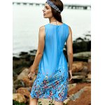 Stylish Scoop Neck Sleeveless Fitting Printed Women's Dress for sale