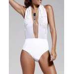 Women's Refreshing Plunging Neck Backless One Piece Swimwear