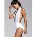 cheap Women's Refreshing Plunging Neck Backless One Piece Swimwear