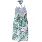 cheap Stylish Spaghetti Strap Loose-Fitting Printing Dress For Women