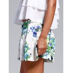 cheap Sweet Floral Print Loosed-Fitting Shorts For Women