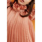 Convertible Ruffles Solid Color Pleated T-Shirt deal
