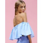 Trendy Off-The-Shoulder Pure Color Women's Blouse deal