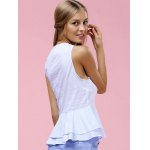best Fashionable V-Neck Pinstriped Ruffle Top For Women