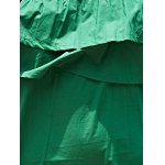 best Stylish Off The Shoulder Green Ruffles Women's Dress