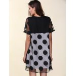 Casual Scoop Neck Short Sleeve Polka Dot Organza Women's Dress for sale