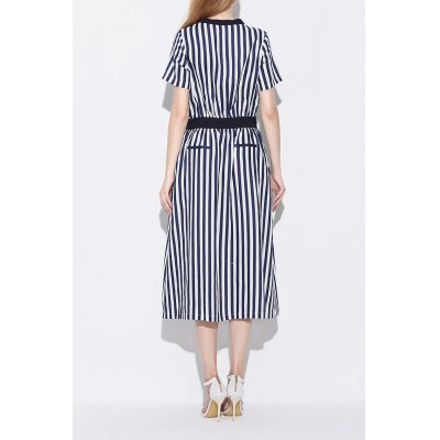 V Neck Zipper Design Striped Slit DressDesigner Dresses<br>V Neck Zipper Design Striped Slit Dress<br><br>Style: Brief<br>Occasion: Casual,Day<br>Material: Linen<br>Composition: 100% Linen<br>Silhouette: A-Line<br>Dresses Length: Mid-Calf<br>Neckline: V-Neck<br>Sleeve Length: Short Sleeves<br>Pattern Type: Striped<br>With Belt: No<br>Season: Summer<br>Weight: 0.470kg<br>Package Contents: 1 x Dress