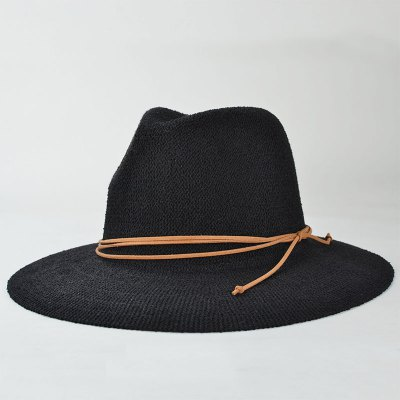 Knotted Rope Casual Holiday Travelling Sunscreen Sun Hat For Women