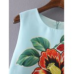 Stylish Round Neck Floral Print Sleeveless Dress For Women deal