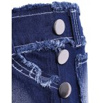 Casual Butterfly Squins Frayed Denim Shorts For Women for sale