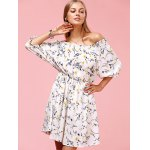 cheap Sweet Off The Shoulder Floral Print Dress