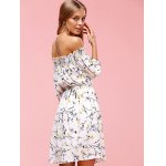Sweet Off The Shoulder Floral Print Dress for sale