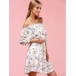 Sweet Off The Shoulder Floral Print Dress deal