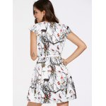 Belted Animal Printed Mini Flare Dress for sale