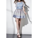 Polka Dot Mini Dress with Cover Up deal