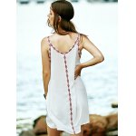 Bohemian Embroidered A-Line Women's Strap Dress for sale
