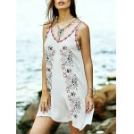 Bohemian Embroidered A-Line Women's Strap Dress