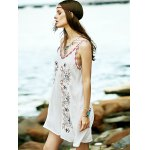Bohemian Embroidered A-Line Women's Strap Dress deal