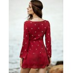 Bohemian Embroidered Long Sleeve Women's Tunic Dress photo