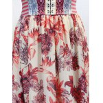 Stylish Round Neck Sleeveless Printed Lace-Up Women's Dress deal