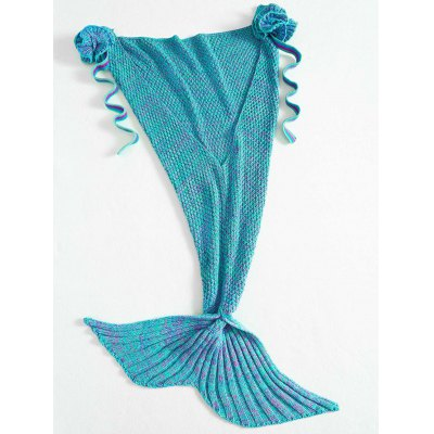 Stylish Knitted Flowers Embellished Mermaid Tail Shape Blanket For KidsBedding<br>Stylish Knitted Flowers Embellished Mermaid Tail Shape Blanket For Kids<br><br>Type: Knitted<br>Material: Acrylic<br>Pattern Type: Solid<br>Size(L*W)(CM): 95*68CM<br>Weight: 0.450kg<br>Package Contents: 1 x Blanket