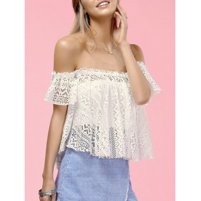 Stylish Off The Shoulder Lace Blouse For Women