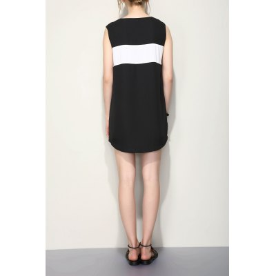 Short Chiffon Sleeveless DressSleeveless Dresses<br>Short Chiffon Sleeveless Dress<br><br>Style: Brief<br>Occasion: Beach,Causal,Day<br>Material: Polyester<br>Fabric Type: Chiffon<br>Composition: 100% Polyester<br>Neckline: Round Collar<br>Silhouette: A-Line<br>Dresses Length: Mini<br>Sleeve Length: Sleeveless<br>Pattern Type: Patchwork<br>With Belt: No<br>Season: Summer<br>Weight: 0.410kg<br>Package Contents: 1 x Dress