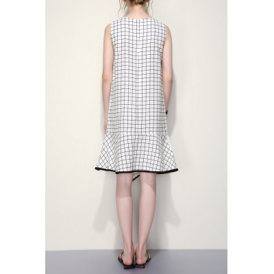 Plaid Sleeveless Mermaid DressDesigner Dresses<br>Plaid Sleeveless Mermaid Dress<br><br>Style: Brief<br>Occasion: Casual,Day<br>Material: Acetate,Nylon,Polyester<br>Composition: 50% Acetate,30% Polyester,20% Nylon<br>Silhouette: A-Line<br>Dresses Length: Knee-Length<br>Neckline: Round Collar<br>Sleeve Length: Sleeveless<br>Pattern Type: Plaid<br>With Belt: No<br>Season: Summer<br>Weight: 0.420kg<br>Package Contents: 1 x Dress