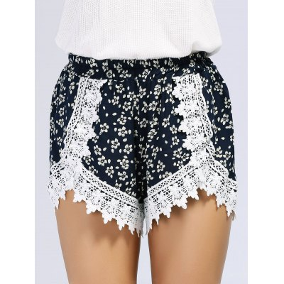 Bohemian Elastic Waist Lace Spliced Floral Print Womens ShortsShorts<br>Bohemian Elastic Waist Lace Spliced Floral Print Womens Shorts<br><br>Style: Fashion<br>Length: Mini<br>Material: Polyester<br>Fit Type: Loose<br>Waist Type: High<br>Closure Type: Elastic Waist<br>Front Style: Flat<br>Pattern Type: Patchwork<br>Weight: 0.200kg<br>Package Contents: 1 x Shorts