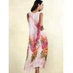 Bohemian Sleeveless Floral Print Loose-Fitting Chiffon Women's Dress deal