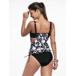Sweet Spaghetti Strap Floral Print Women's Tankini Set for sale