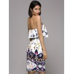 Trendy Strapless Frilled Top and High Waist Skirt Set For Women for sale