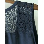 Stylish Plunging Neck Sleeveless Lace Splice Women's Dress deal