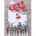 Trendy Digital Print Women's Tank Dress deal