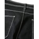 Contrast Suture Narrow Feet Denim Pants for sale