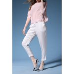 Silk Tee and Drawstring Pants Twinset for sale